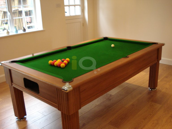 Slimline Pool Table Walnut Finish / Green Cloth