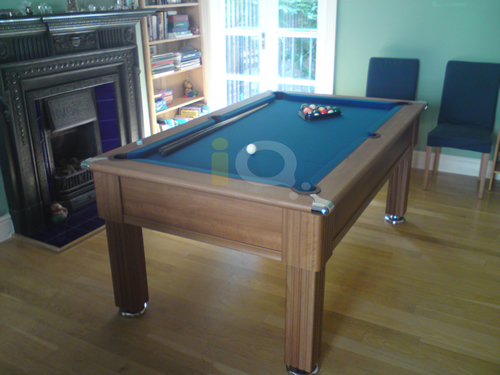 Slimline Pool Table Walnut Finish / Slate Cloth