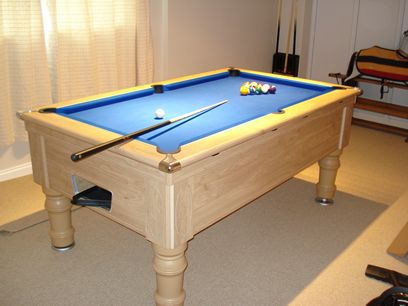Supreme Prince Pool Table Oak Finish / Blue Cloth