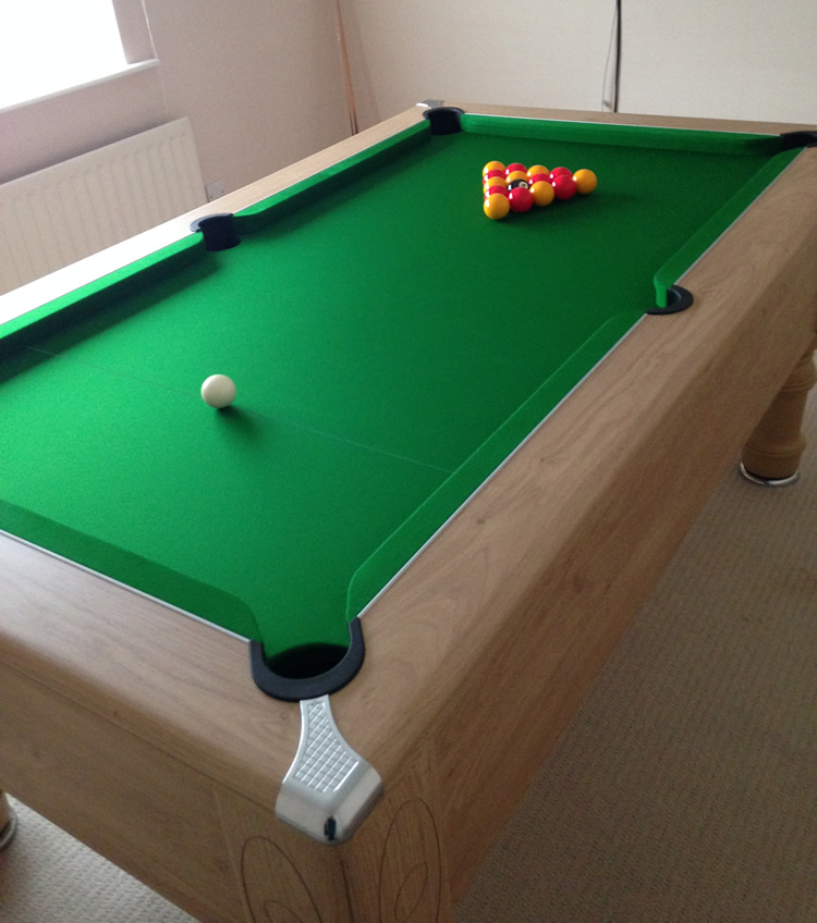 Supreme Prince Pool Table in Oak Finish with Green Cloth