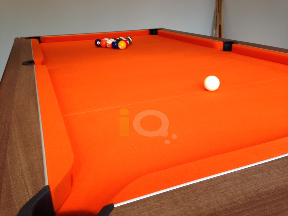 Supreme Prince Pool Table Oak Finish / Orange Cloth