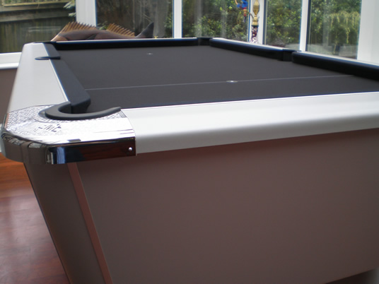 Supreme Winner Pool Table Aluminium Finish with Black Cloth