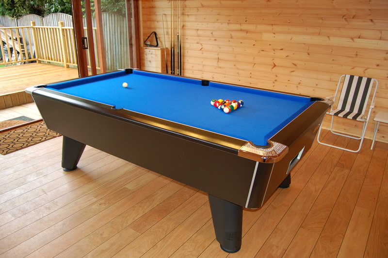 Supreme Winner Pool Table Black Finish and Blue Cloth