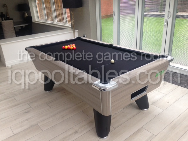 Supreme Winner Pool Table Dritwood Finish with Black Cloth