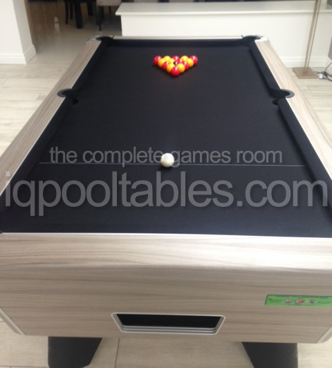 Supreme Winner Pool Table Driftwood Finish / Black Cloth