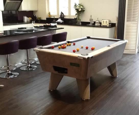 Supreme Winner Pool Table Italian Grey Finish / Grey Cloth