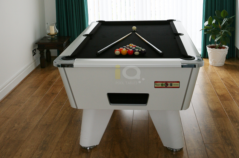 Supreme Winner Pool Table White Finish / Black Cloth