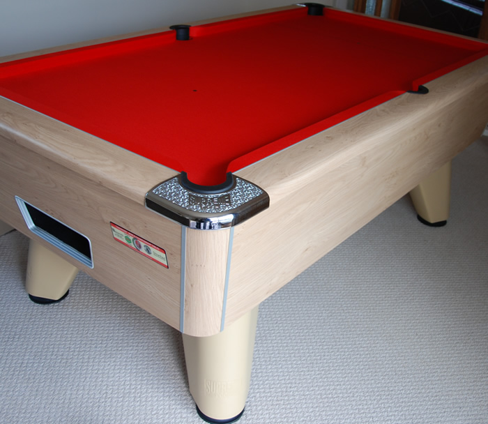 Winner Pool Table Beech Finish with Red Cloth