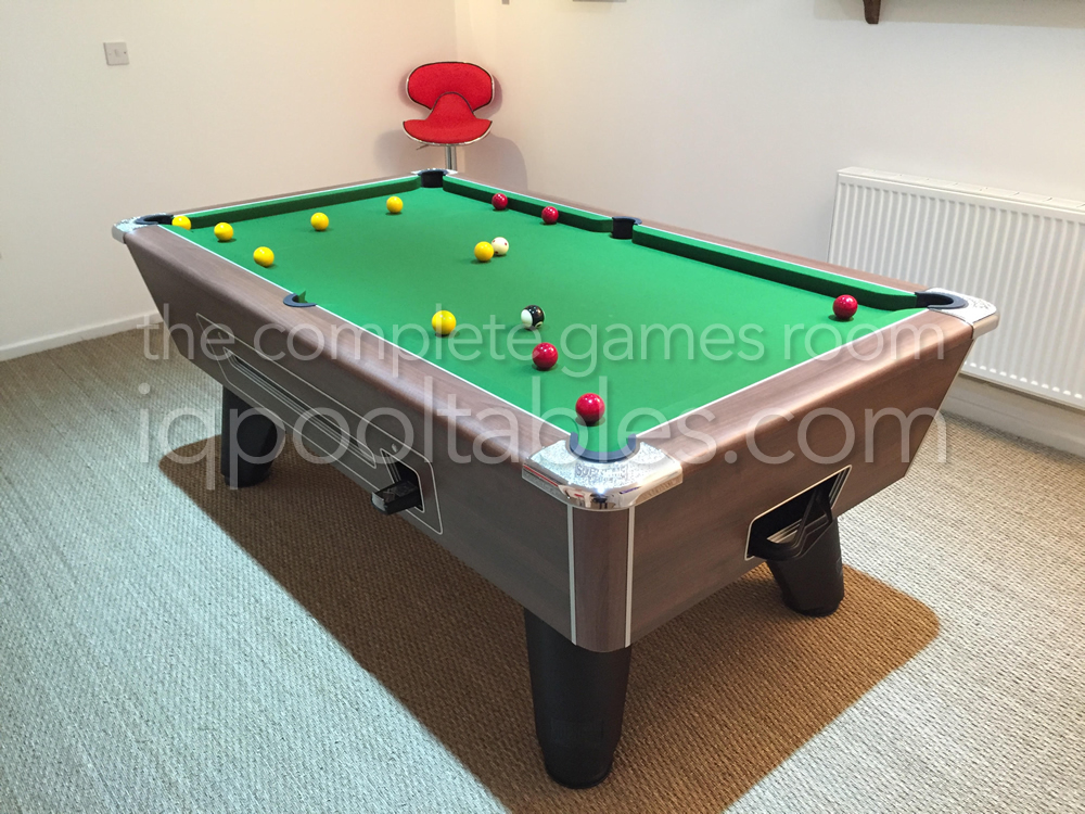 Coin Operated Supreme Winner Kit Pool Table Installed in Downstairs Gamesroom