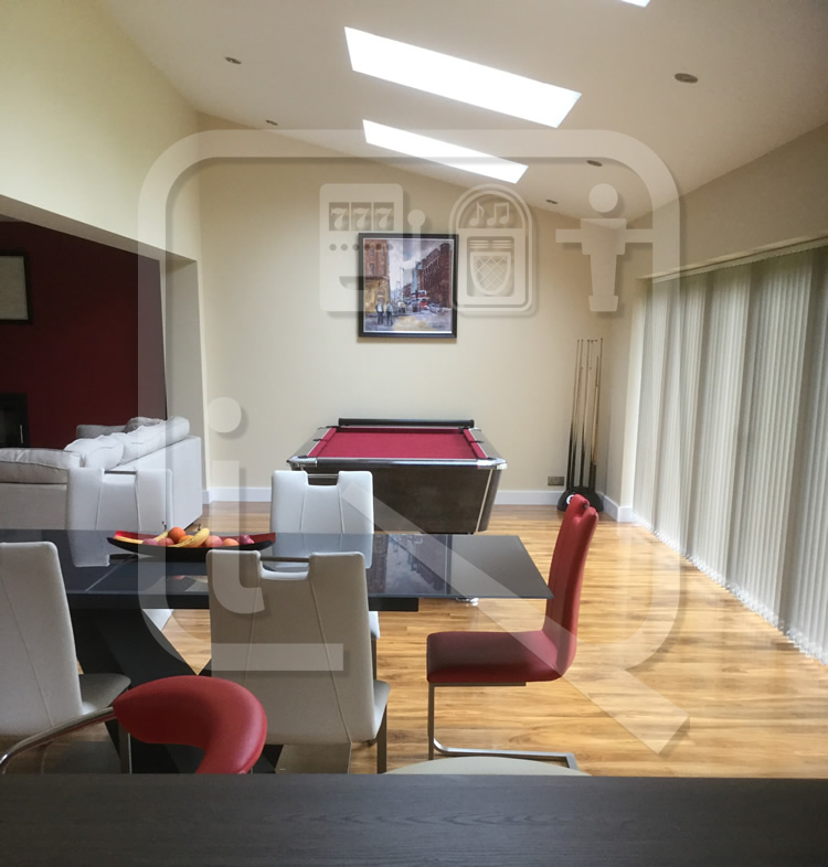 Supreme Winner Black Marble Pool Table with Burgundy Cloth img 6