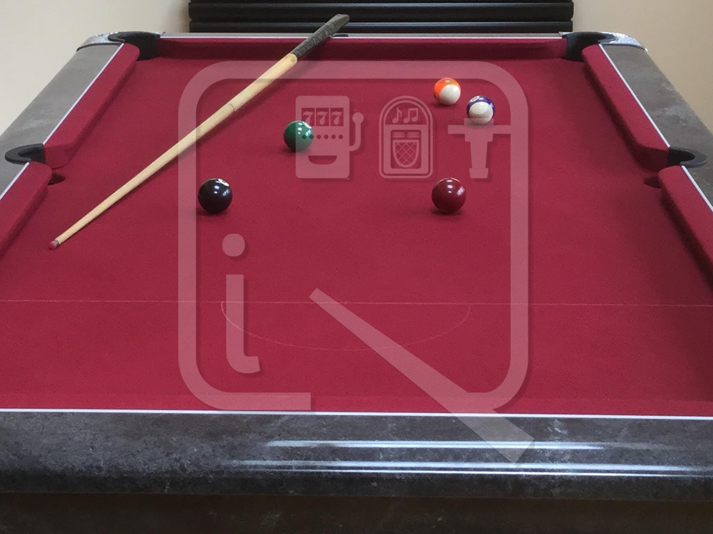 Supreme Winner Black Marble Pool Table with Burgundy Cloth img 8