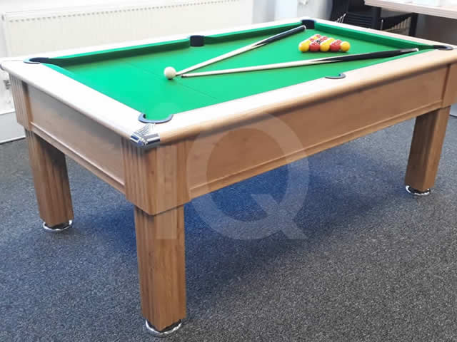 Gatley 7ft Traditional Pool Table Oak Finish/Green Cloth