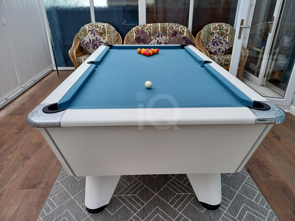 7ft Freeplay Supreme Winner White Pearl with Powder Blue Cloth